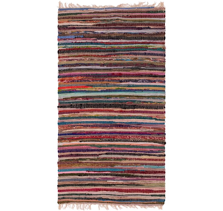 70cm x 142cm Chindi Cotton Rug