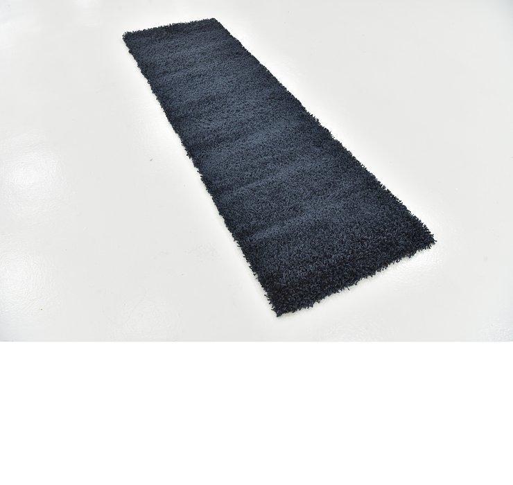 2' 3 x 7' 5 Solid Shag Runner Rug