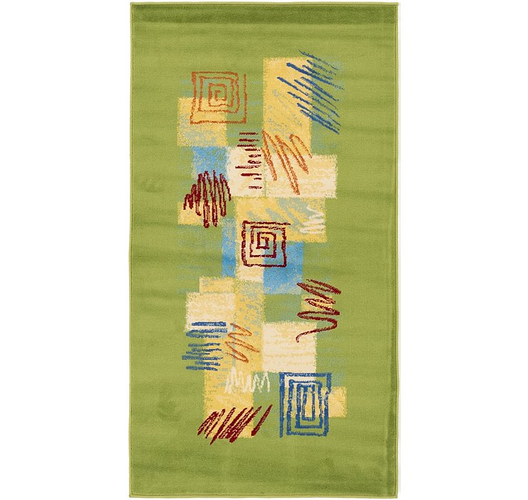 2' 8 x 5' Reproduction Gabbeh Rug