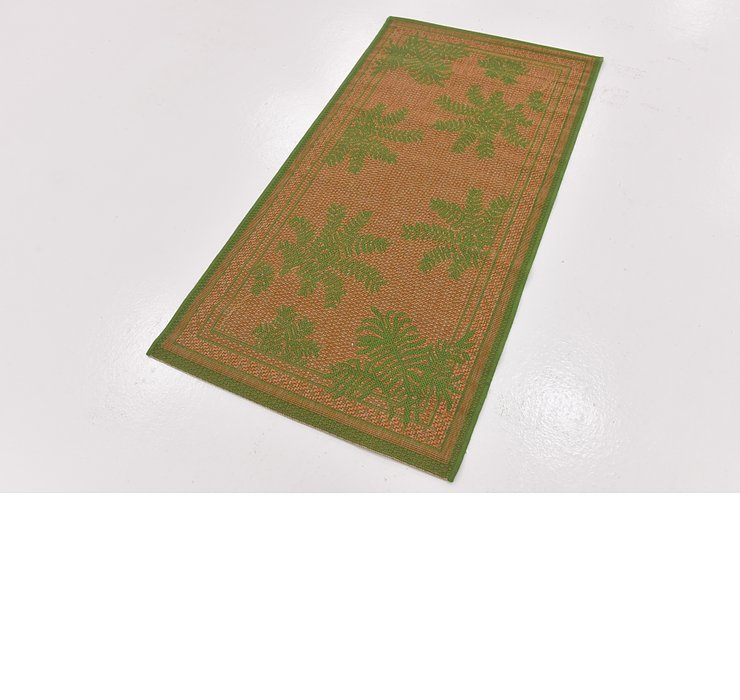2' 7 x 5' Outdoor Botanical Rug