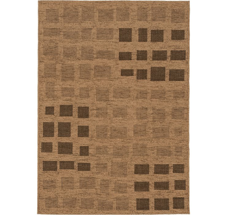 4' x 5' 7 Outdoor Border Rug