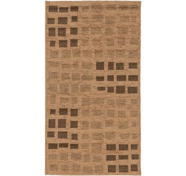 2' 7 x 4' 9 Outdoor Border Rug