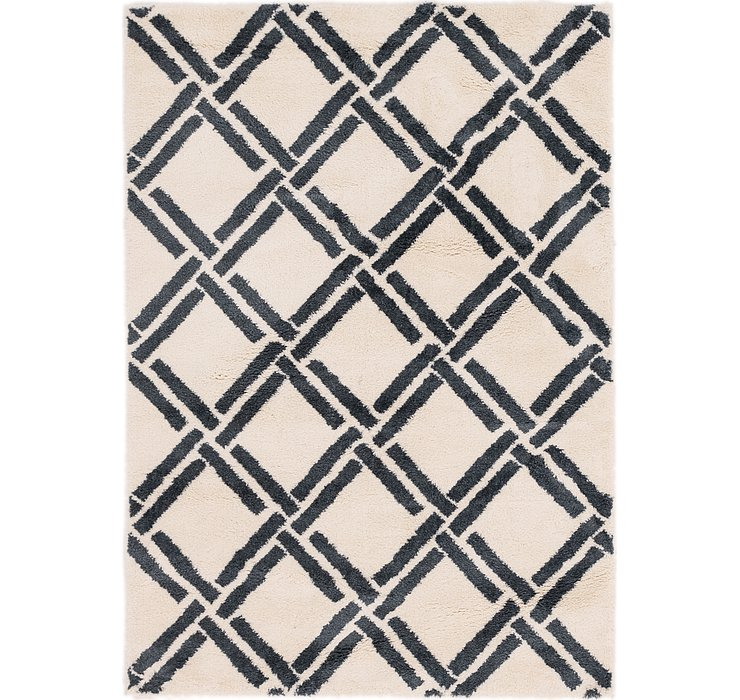 5' 4 x 7' 7 Lattice Shag Rug