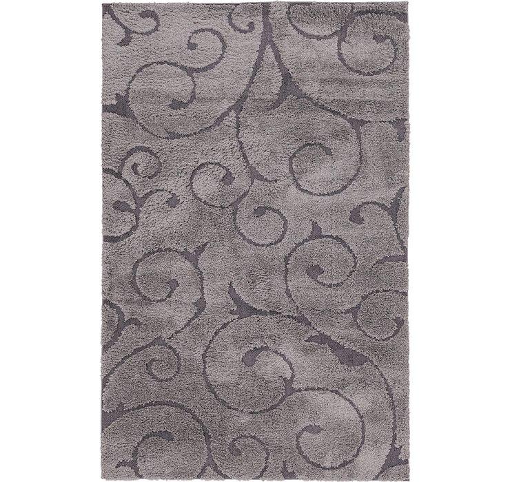 5' x 8' Textured Shag Rug
