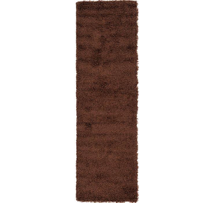 2' 4 x 7' 6 Solid Shag Runner Rug