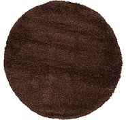 Link to 155cm x 155cm Solid Shag Round Rug