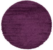 Link to 152cm x 157cm Solid Shag Round Rug