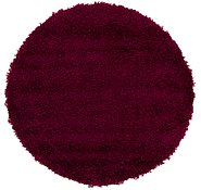 Link to 100cm x 100cm Solid Shag Round Rug