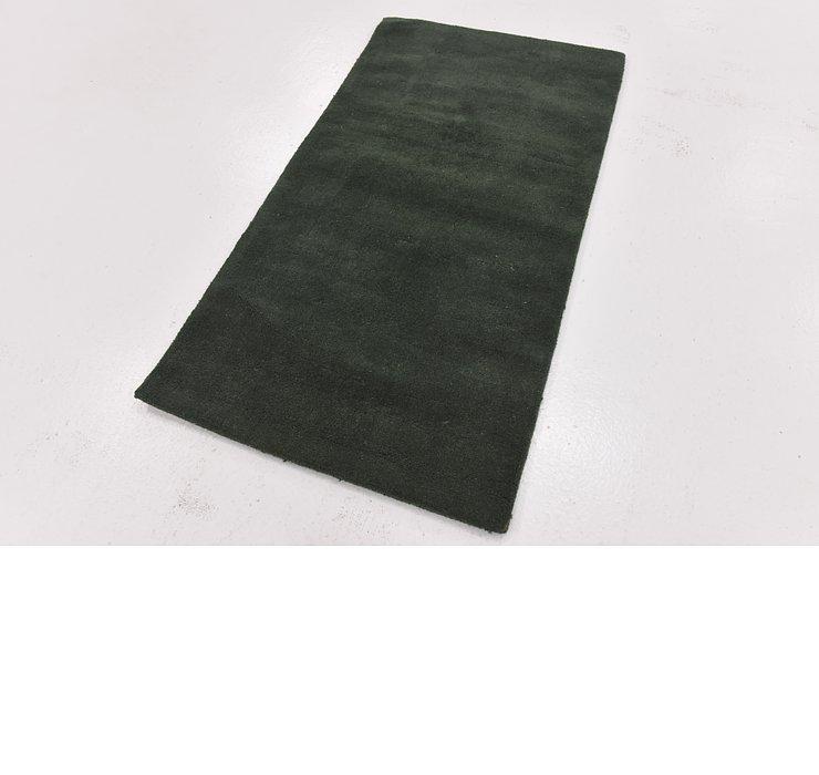 2' 8 x 5' Solid Gabbeh Rug