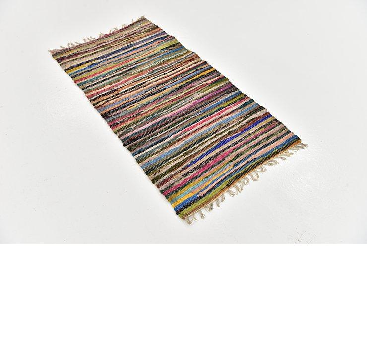 2' 6 x 4' 8 Chindi Cotton Rug