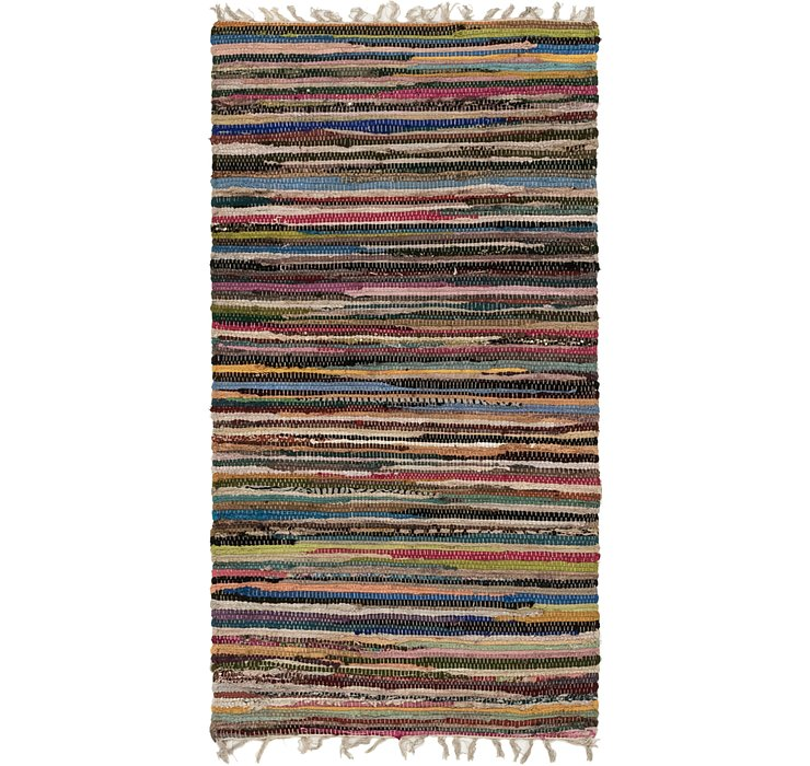 2' 6 x 4' 8 Chindi Cotton Rug