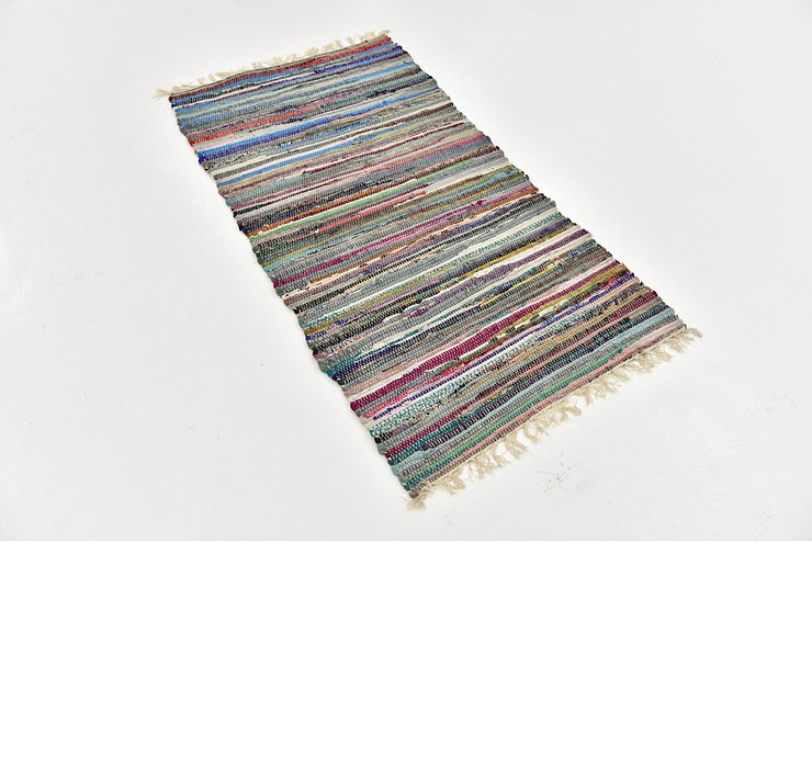 70cm x 135cm Chindi Cotton Rug