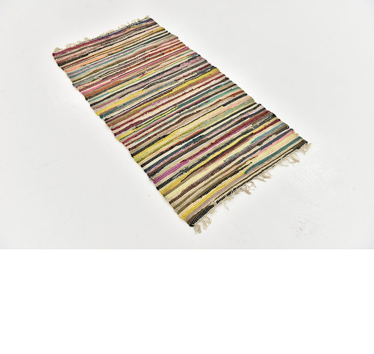 2' 5 x 4' 5 Chindi Cotton Rug