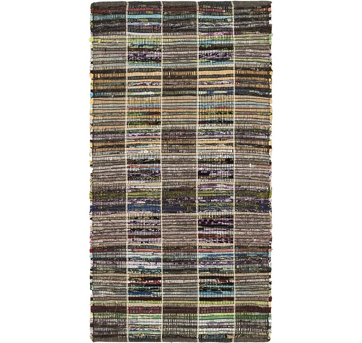 70cm x 135cm Chindi Cotton Rug