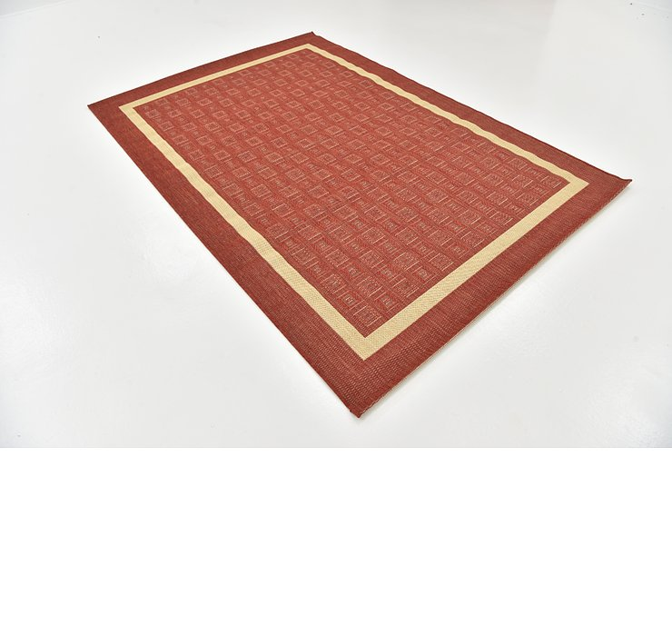 5' 3 x 7' 7 Outdoor Border Rug