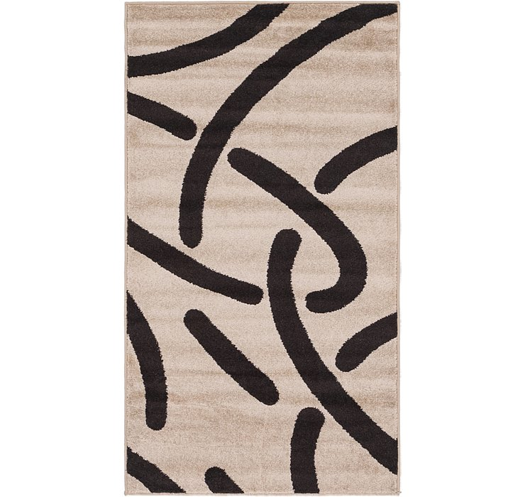 2' 7 x 4' 5 Reproduction Gabbeh Rug