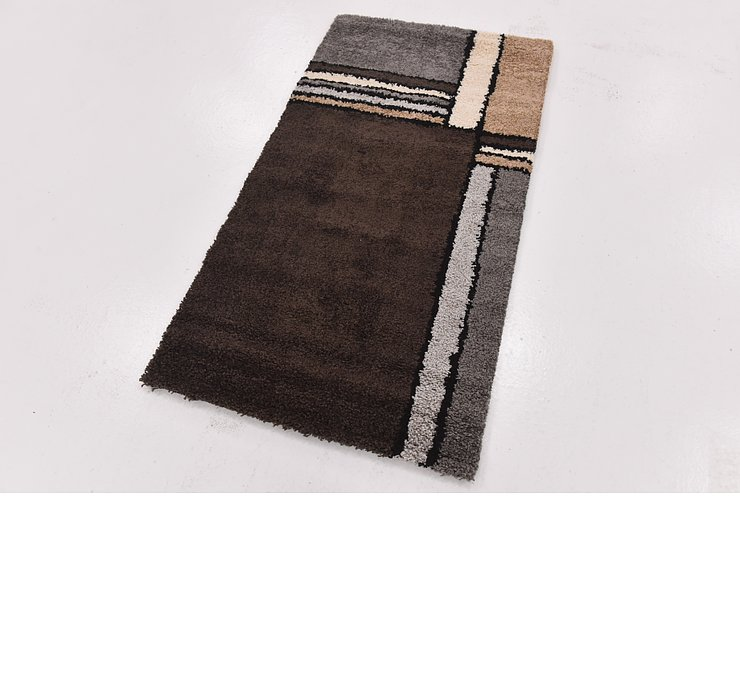 2' 8 x 5' Multi-Tone Shag Rug