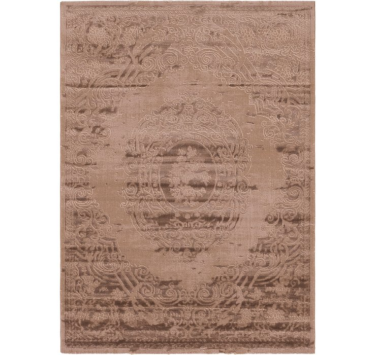 5' 3 x 7' 6 Carved Aubusson Rug