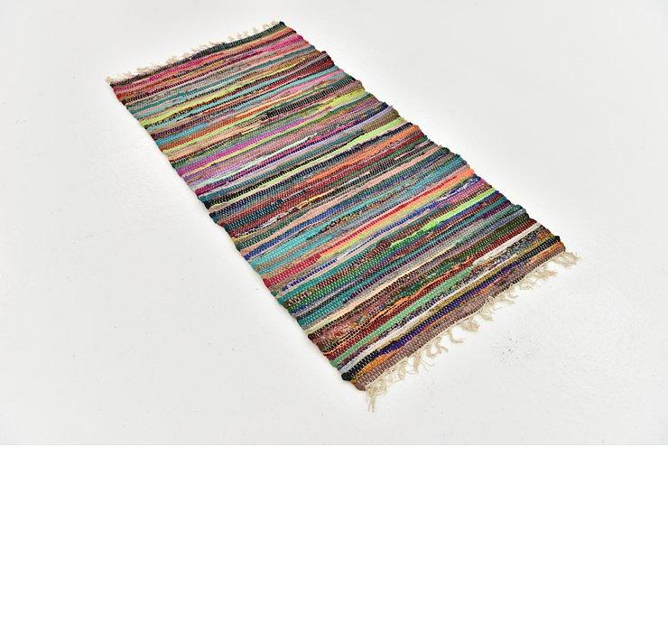2' 4 x 4' 7 Chindi Cotton Rug