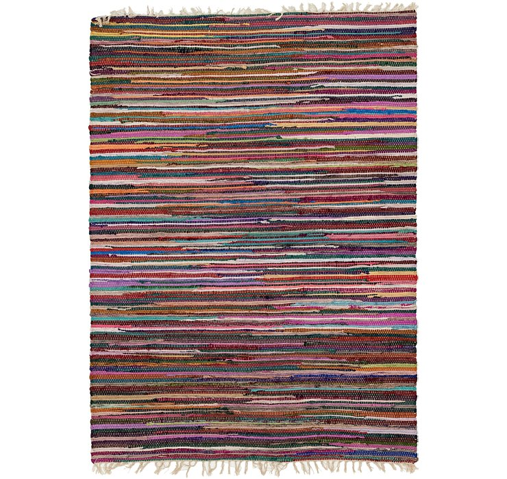 4' 7 x 6' 6 Chindi Cotton Rug