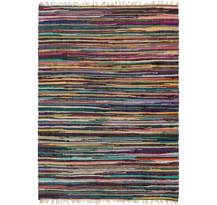 4' 7 x 6' 4 Chindi Cotton Rug