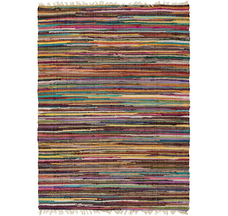 140cm x 198cm Chindi Cotton Rug