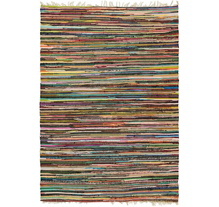4' 7 x 6' 7 Chindi Cotton Rug