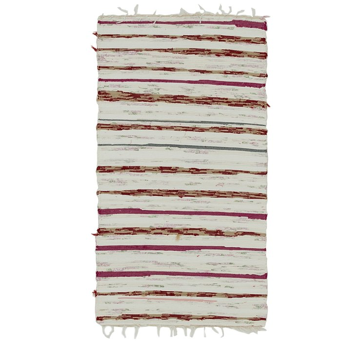 2' 4 x 4' 3 Chindi Cotton Rug