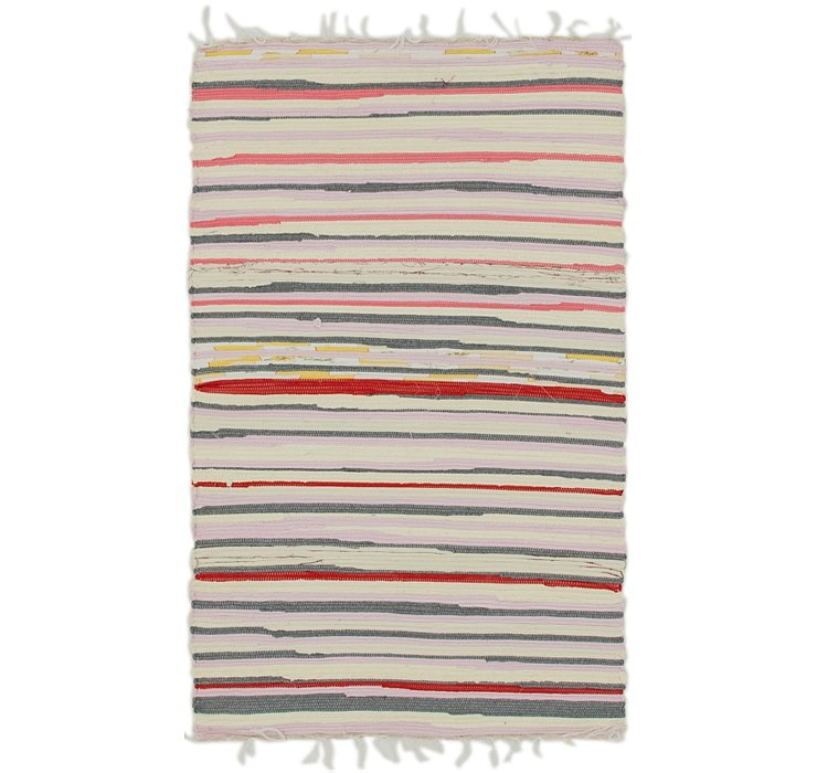 2' 3 x 3' 10 Chindi Cotton Rug