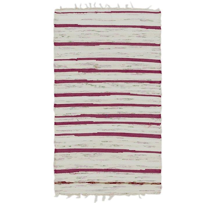 70cm x 132cm Chindi Cotton Rug