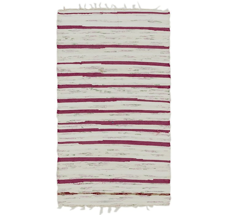 2' 3 x 4' 4 Chindi Cotton Rug