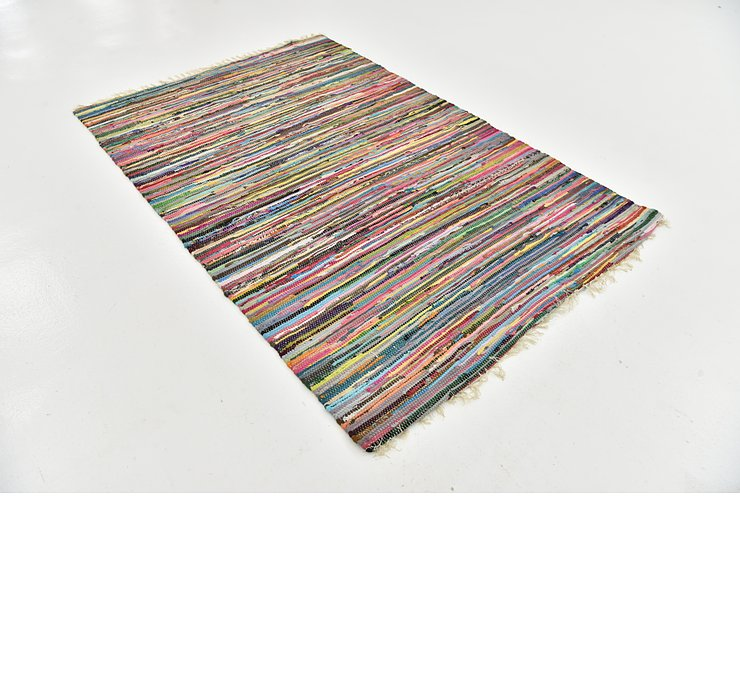 140cm x 208cm Chindi Cotton Rug