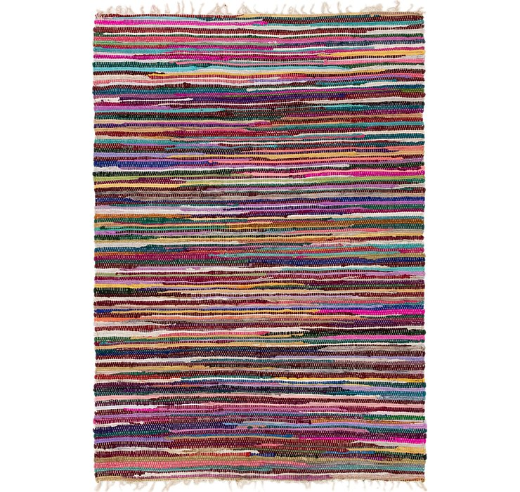 4' 7 x 6' 5 Chindi Cotton Rug