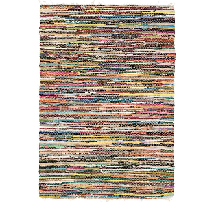 4' 8 x 6' 8 Chindi Cotton Rug