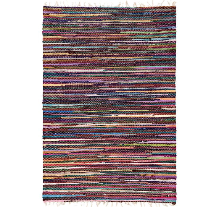 4' 7 x 6' 8 Chindi Cotton Rug