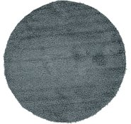 Link to 157cm x 157cm Solid Shag Round Rug