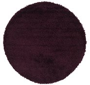 Link to 152cm x 152cm Solid Shag Round Rug