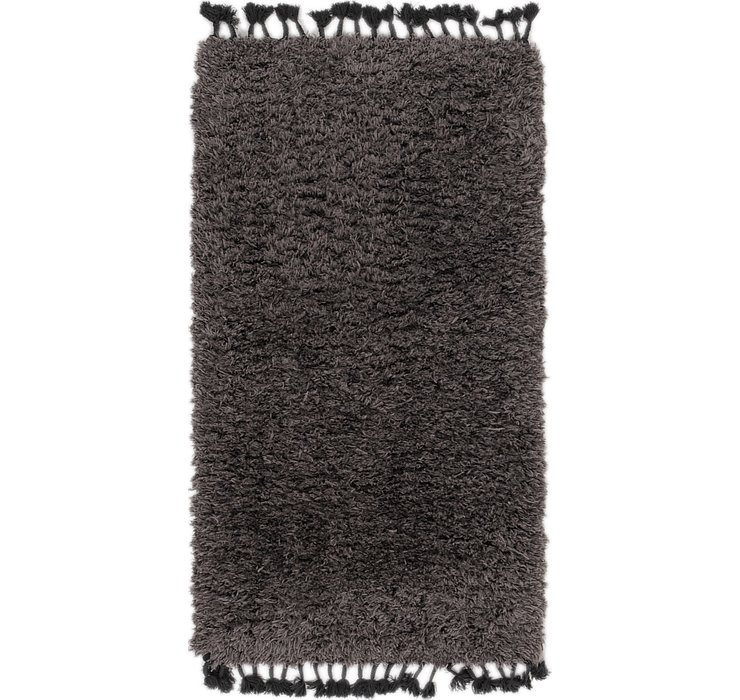 2' 9 x 5' 2 Luxe Solid Shag Rug