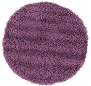 Link to 97cm x 97cm Solid Shag Round Rug