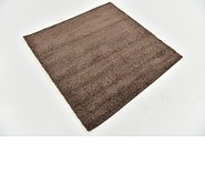 Link to 125cm x 125cm Solid Shag Square Rug
