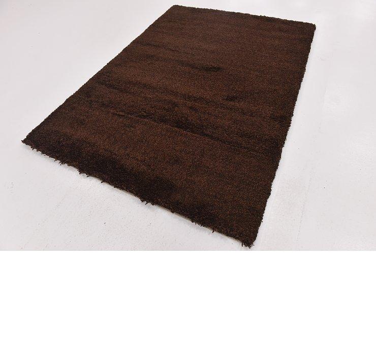 5' 4 x 7' 6 Solid Shag Rug