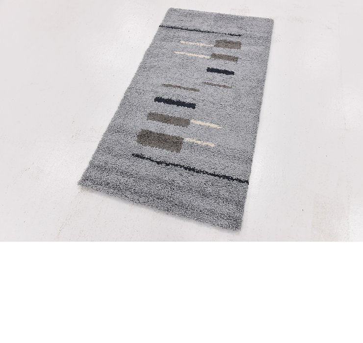 2' 7 x 4' 10 Multi-Tone Shag Rug