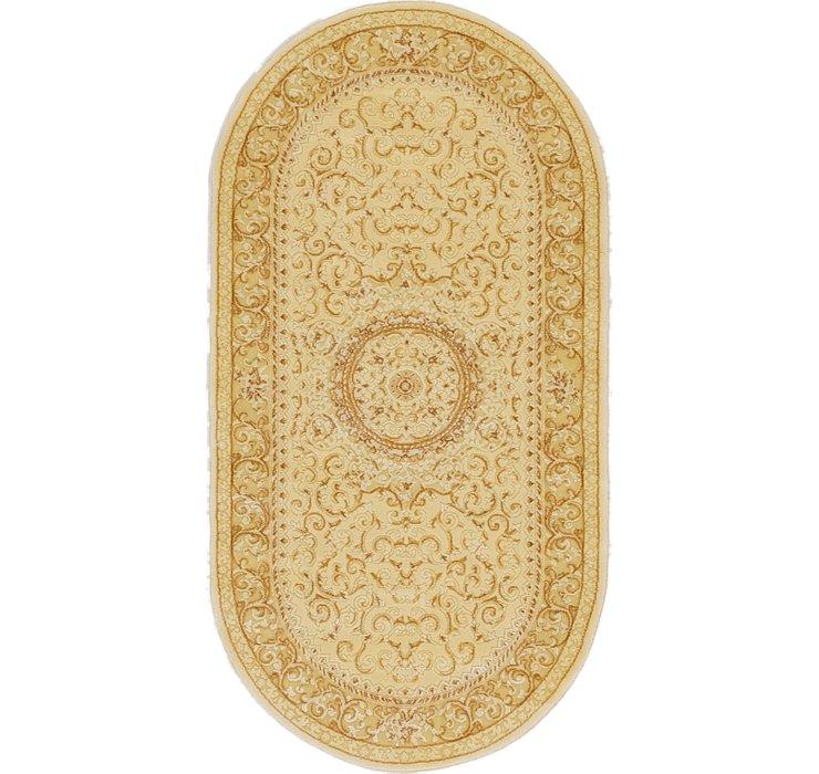 2' 7 x 5' Tabriz Design Oval Rug