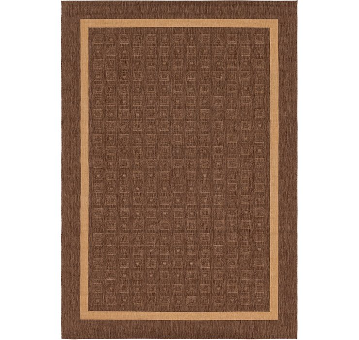 6' 6 x 9' 6 Outdoor Border Rug