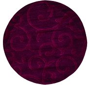 Link to 122cm x 122cm Floral Frieze Round Rug