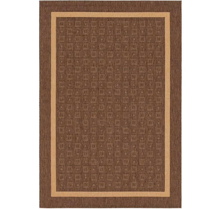 6' 7 x 9' 7 Outdoor Border Rug
