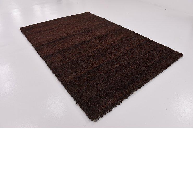 6' 6 x 9' 6 Solid Shag Rug