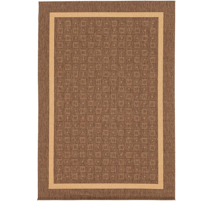 6' 6 x 9' 7 Outdoor Border Rug
