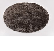 Link to 183cm x 183cm Luxe Solid Shag Round Rug