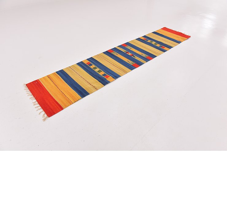 2' x 9' 2 Kilim Dhurrie Runner Rug